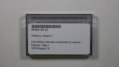 Thumbnail for entry Oral history interview conducted by Joanne Feeney, Tape 1 [Side 1]