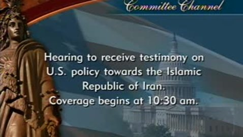 Thumbnail for entry Congressional Papers, 1964-2015 > 2009-2014 > Defense and Armed Services Committee (SASC), 1997-2015 > Committee hearings and investigations (SASC) > Islamic Republic of Iran, April 14, 2010