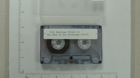 """Thumbnail for entry 2001 Hastings Street """"Best of Our Knowledge."""" [Side 1; no side 2]"""