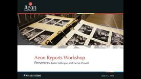Thumbnail for entry Aeon Symposium – Aeon Reports Workshop