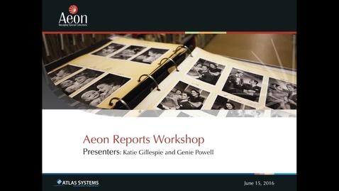 Thumbnail for entry Aeon Symposium – Aeon Reports Workshop