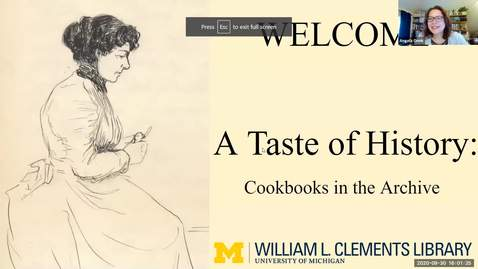 """Thumbnail for entry 2020 September 30, """"A Taste of History: Cookbooks in the Archives"""" - Virtual Discover Series, Part 2/3"""
