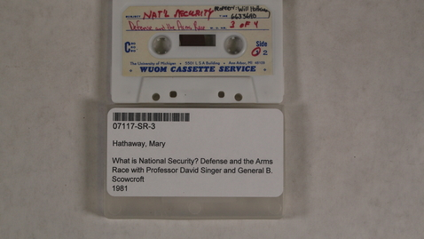 Thumbnail for entry What is National Security? Defense and the Arms Race with Professor David Singer and General B. Scowcroft [Side 1]