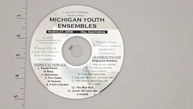 Thumbnail for entry Audio Recordings > Michigan Youth Ensembles > March 27, 2006 > Women's                 Chorale and Chamber Singers, Disk 1 of 3