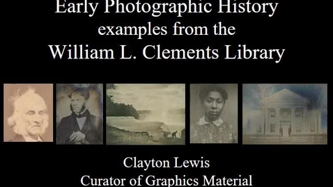 """Thumbnail for entry 2020, May 6, """"The Origins of Photography"""" - Virtual Discover Series Part 1/4"""
