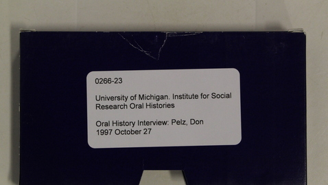 Thumbnail for entry Oral History Interview: Pelz, Don