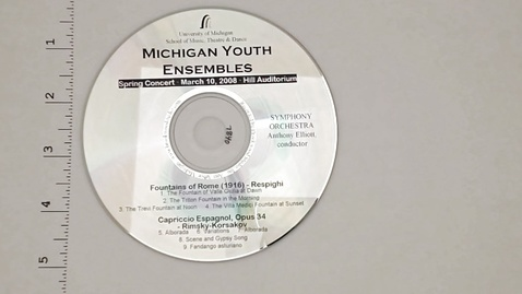 Thumbnail for entry Audio Recordings > Michigan Youth Ensembles > March 10, 2008 > Symphony                 Orchestra, Disk 3 of 3