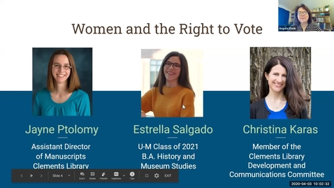 Thumbnail for entry 2020 April 3, Bookworm #2 – Women and the Right to Vote