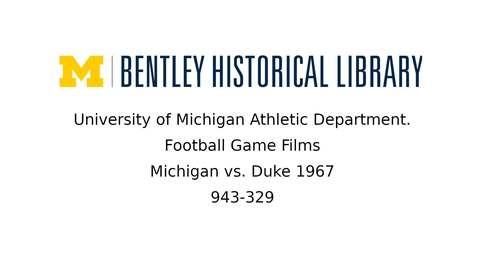 Thumbnail for entry University of Michigan Football vs. Duke  1967