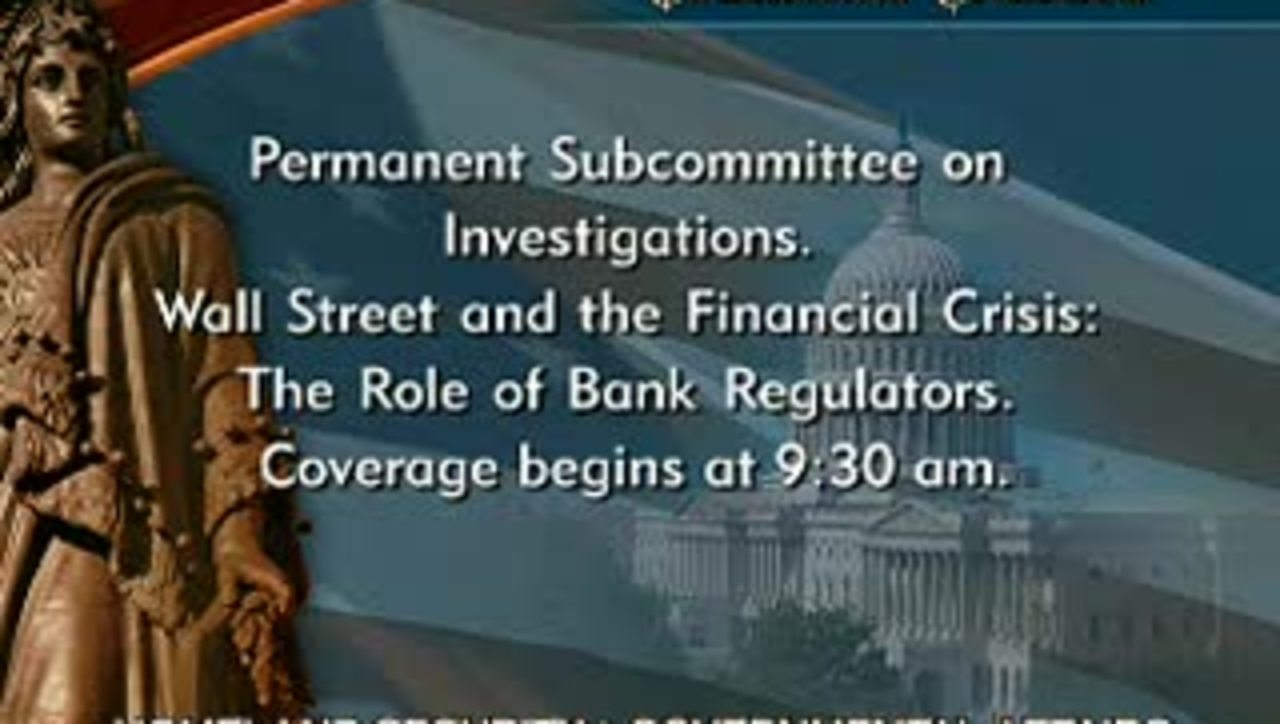 Congressional Papers, 1964-2015 > 2009-2014 > Government and Homeland Security, 1984-2014 > Homeland Security and Governmental Affairs Committee hearings (HSGAC) > Committee hearings > Wall Street and the Financial Crisis: The Role of Bank Regulators, ...
