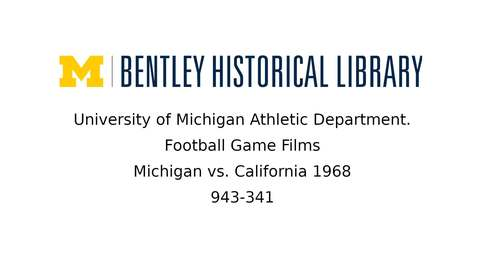 Thumbnail for entry University of Michigan Football vs. California  1968