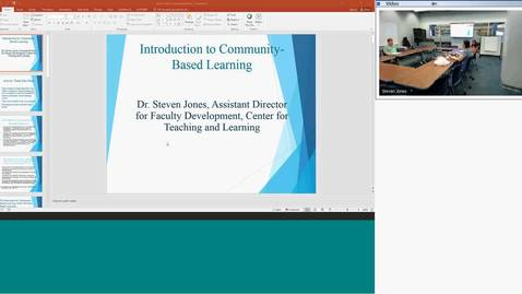 Thumbnail for entry CTL Workshop-Introduction to Community-Based Learning