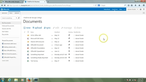 Thumbnail for entry OneDrive Introduction - Editing Content