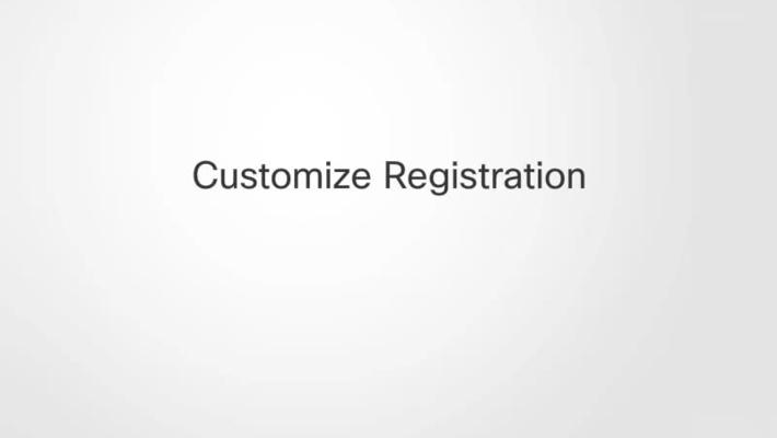 Customize Registration
