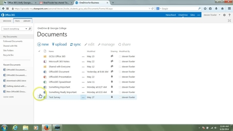 Thumbnail for entry OneDrive Introduction - Sharing Content