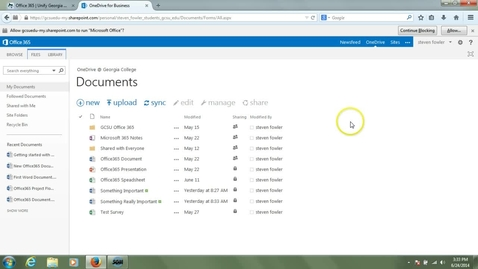 Thumbnail for entry OneDrive Introduction - Syncing to PC