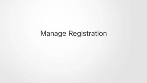 Thumbnail for entry Manage Registration