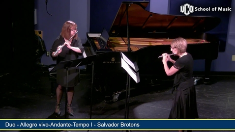 Thumbnail for entry Faculty Artist Concert Series - Emily Butterfield with Debora Harris