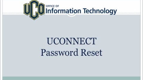 Thumbnail for entry How To Reset Your UCONNECT Password