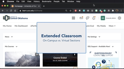 Thumbnail for entry Extended Classroom Sections: On-Campus vs. Virtual Students
