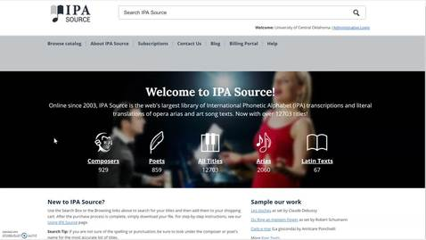 Thumbnail for entry Navigating the IPA Source Database