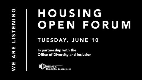 Thumbnail for entry Housing Open Forum