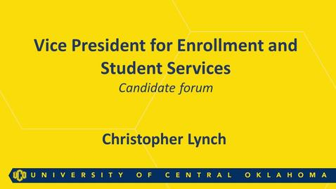 Thumbnail for entry Christopher Lynch: Faculty and Staff Forum