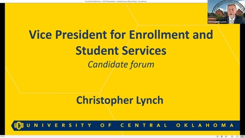Thumbnail for entry Mr. Christopher Lynch: Student Forum