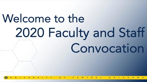 Thumbnail for entry Faculty and Staff Convocation Fall 2020