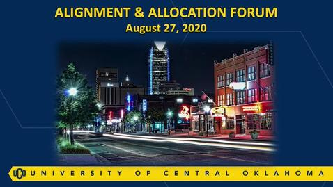 Thumbnail for entry Alignment and Allocation Forum (August 26, 2020)
