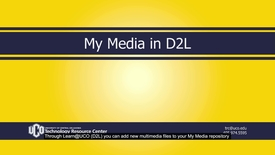 Thumbnail for entry MyMedia_D2L_Intro