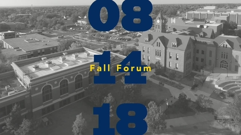 Thumbnail for entry Fall Forum 2018