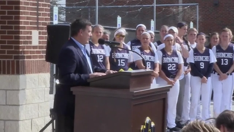 Thumbnail for entry Softball Stadium Dedication Ceremony 3-22-17