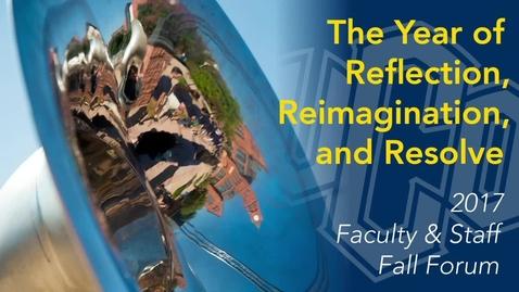 Thumbnail for entry Fall Forum 2017 - President Betz Remarks