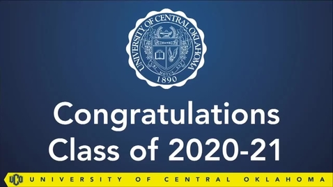 Thumbnail for entry Spring 2021 Commencement - College of Liberal Arts and College of Mathematics and Science