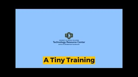 Thumbnail for entry TRC Tiny Training : Out of Office Message