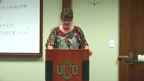 Thumbnail for entry UCO Empowerment for Excellence - Virginia Peters
