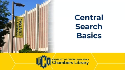 Thumbnail for entry Central Search Basics Tutorial