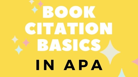 Thumbnail for entry Book citation basics - APA