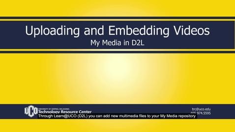 Thumbnail for entry MyMedia_D2L_Uploading&Embedding