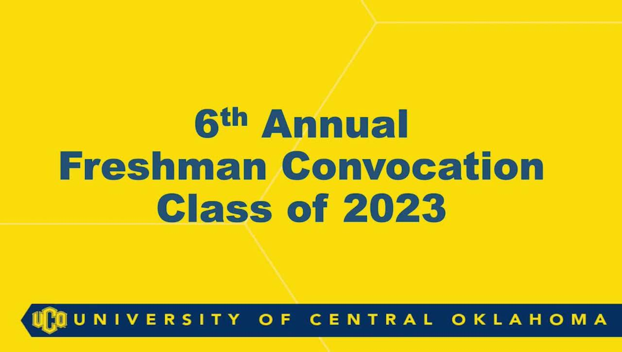 Freshman Convocation Fall 2019