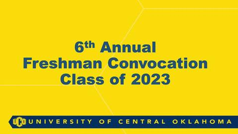 Thumbnail for entry Freshman Convocation Fall 2019