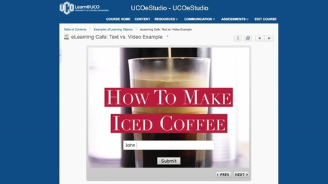 Thumbnail for entry eLearning Cafe: Learning Object Screencast