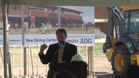 Thumbnail for entry New Dining Center Groundbreaking