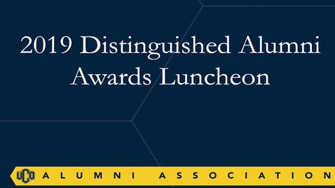 Thumbnail for entry Distinguished Alumni Awards Luncheon 10-04-2019