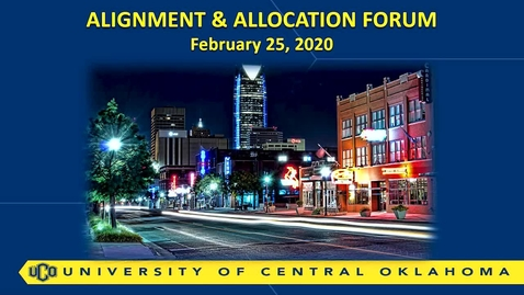 Thumbnail for entry Alignment and Allocation Forum - 02/25/20