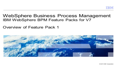 Thumbnail for entry Overview of WebSphere Adapters V7.0 Feature Pack 1