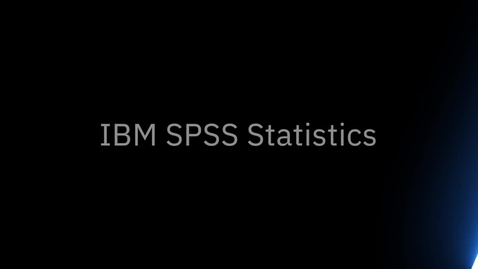 Thumbnail for entry IBM SPSS Statistics Introduction and Overview of New User Interface