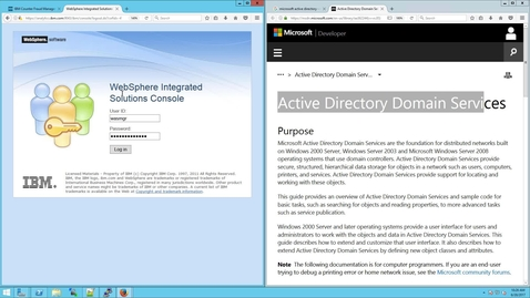 Thumbnail for entry How to configure Websphere for LDAP using Microsoft Active Directory (aka MSAD)
