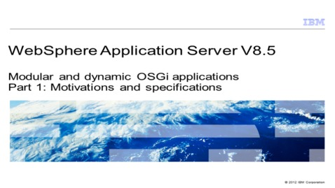 Thumbnail for entry Modular and dynamic OSGi applications. Part 1: Motivations and specifications